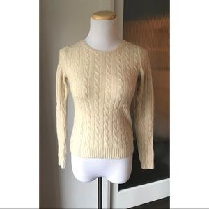 SALE! 3/$30 J Crew cable knit wool sweater